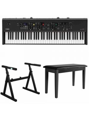 Yamaha CP73 73-Key Stage Piano Bundle with Heavy Duty Z-Stand, Black Padded Piano Bench