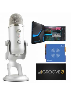 Blue Microphones Yeti Silver Plus Pack Professional USB Microphone with Software Bundle