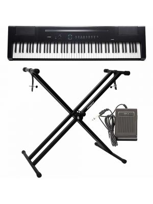 Artesia PA-88H+ 88-Key Weighted Hammer Action Digital Piano Bundle with Sustain Pedal, Power Supply and Double Braced X Stand